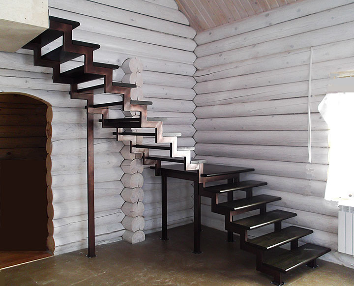 Лестница с поворотом на 180 своими руками 892